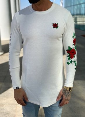 Camiseta Manga Longa Off White Roses - Totanka