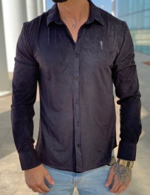 Camisa Manga Longa Suede Black - Zip Off
