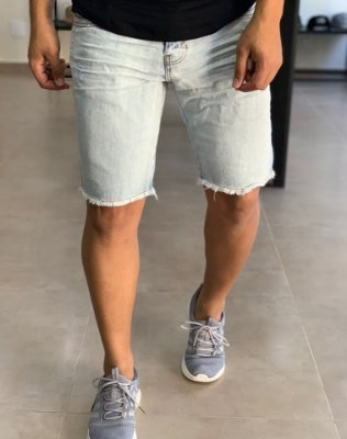 Bermuda Jeans Marmorizado Total - Degrant