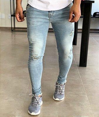 Calça Jeans Claro Skinny Arizona - Degrant
