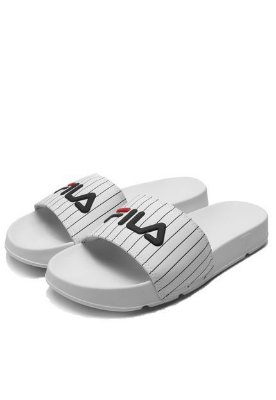 Chinelo Slide Drifter Striped White - Fila