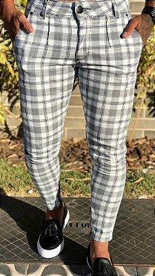 Calça Xadrez Skinny - Codi Jeans