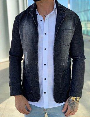 Blazer Jeans Desfiado Black - Exalt Urban