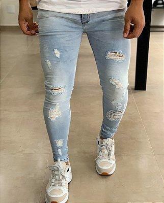 Calça Jeans Light Skinny Destroyed Leeds - John Jones