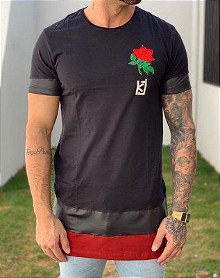 Camiseta Longline Flower - King Joy