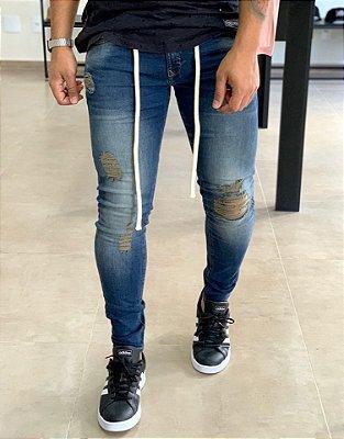 Calça Jeans Skinny Vintage Barro & Corda - Zip Off