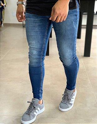 Calça Jeans Ralado Skinny Oakland - Zip Off