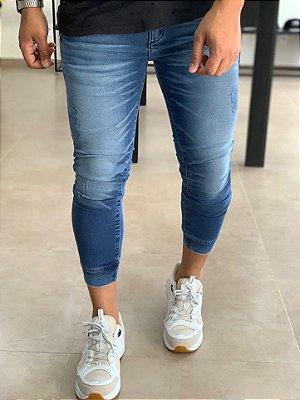 Calça Alfaiataria Jeans Skinny C/Punho - Zip Off