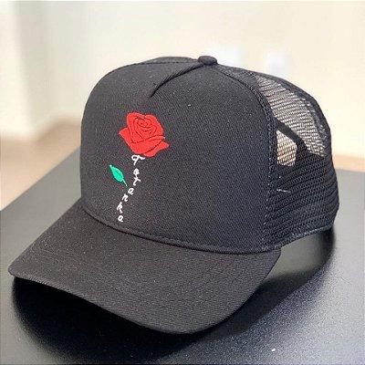 Boné Trucker Rose Black - Totanka