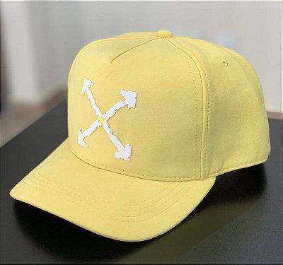 Boné Snapback Suede OFF Yellow - Totanka