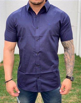 Camisa Manga Curta Azul Marinho - Exalt Urban