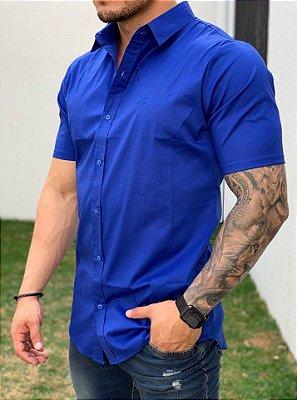 Camisa Manga Curta Azul Royal - Exalt Urban