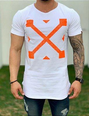 Camiseta Longline White OFF KWP - Kawipii