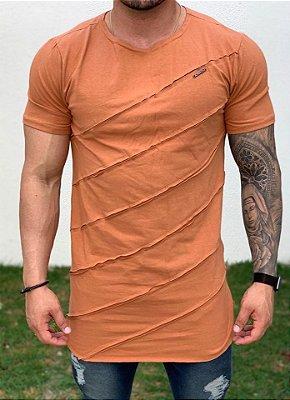 Camiseta Longline Ferrugem Recorte - Kawipii