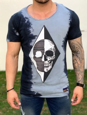 T-Shirt Long Skull Triangle - John Jones