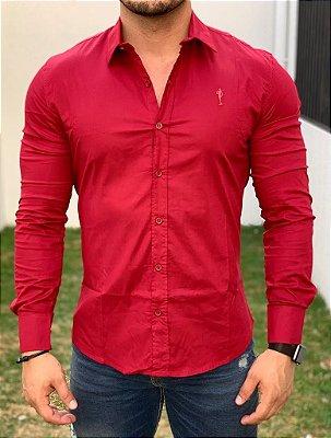 Camisa Manga Longa Basic Vermelho - Zip Off