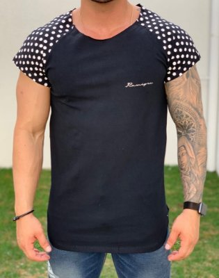 Camiseta Longline Raglan Black Póa - Kawipii
