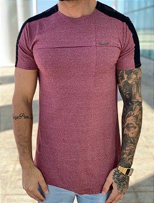 Camiseta Longline Marsala Recorte - Kawipii