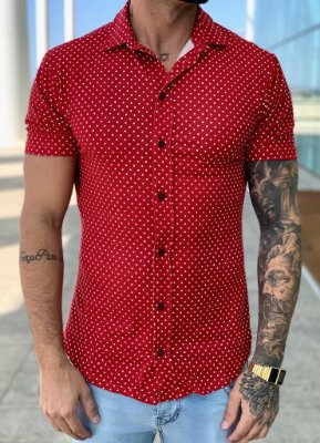 Camisa Manga Curta Póa Red - Kreta
