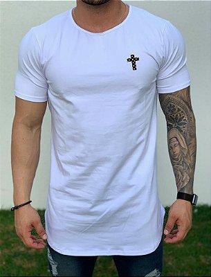 Camiseta Longline White Cruz Stone - Kawipii