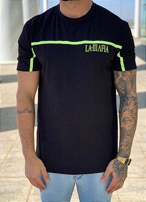 Camiseta Longline Black Neon - La Mafia