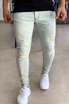 Calça Jeans Skinny Destroyed RIO - City Denim