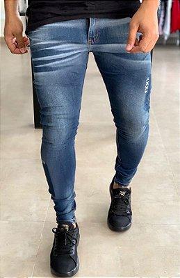 Calça Jeans Skinny Básic Amassado - City Denim
