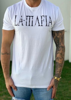 T-Shirt White Basic - La Mafia