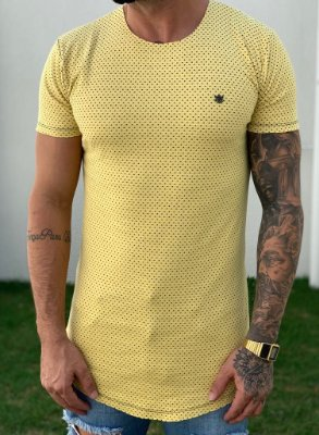 Camiseta Longline Póa Yellow - Totanka