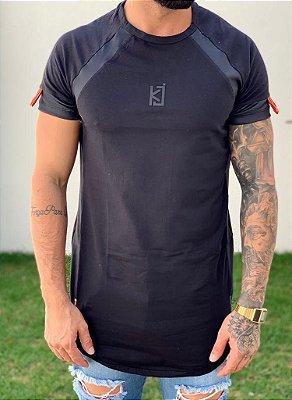 Camiseta Longline Detalhe Ziper - King Joy