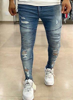 Calça Jeans Skinny Biker Chicago - John Jones