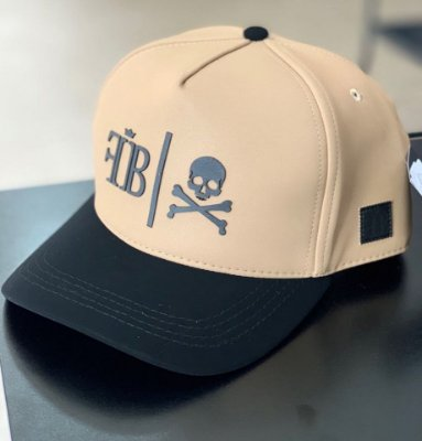 Boné Snapback Logo/Skull Chocolate - FB Exclusive Clothing