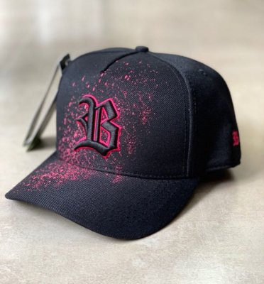 Boné Snapback Paint Pink Black - BLCK