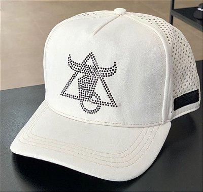 Boné Snapback Logo Strass Off White - Totanka