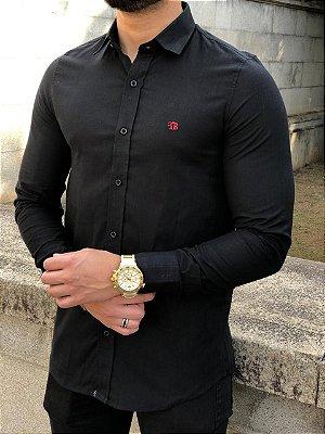Camisa Manga Longa Flamê Black - FB Exclusive Clothing