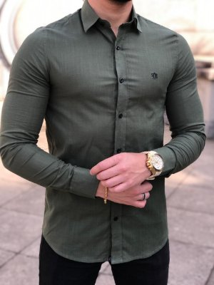 Camisa Manga Longa Verde Militar - FB Exclusive Clothing