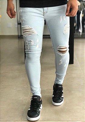 Calça Jeans Bright Skinny Destroyed Tóquio - Creed Jeans