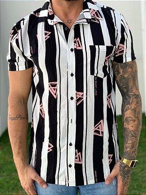 Camisa Manga Curta White Triangle - La Mafia