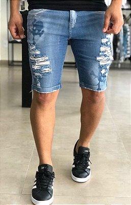 Bermuda Jeans Destroyed Art - Carboss