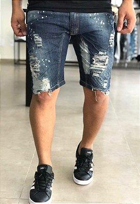 Bermuda Jeans Destroyed Paints X - City Denim