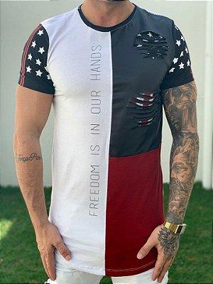 Camiseta Longline Is In Our Hands - King Joy