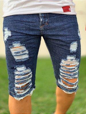 Bermuda Jeans Destroyed Dark - City Denim