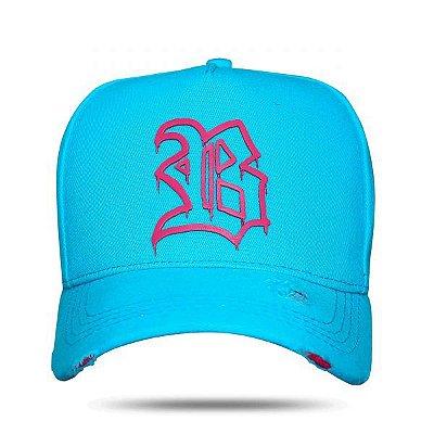 Boné Snapback Fluor Pink&Blue - BLCK