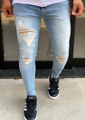 Calça Jeans Skinny Destroyed Antilhas - Creed Jeans