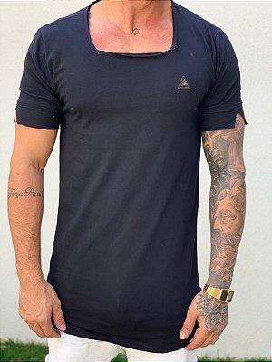 Camiseta Longline Basic Black Gola Quadrada - Kawipii