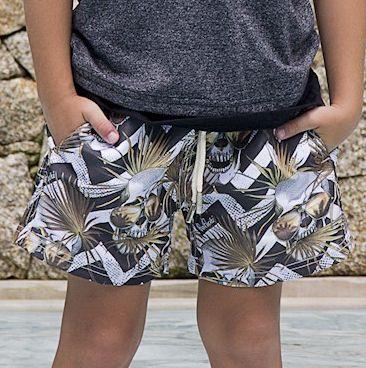 Shorts Infantil Caveira Sunset - PerPochi