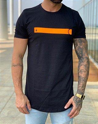 Camiseta Longline Zíper Gorgurão Black - BUH
