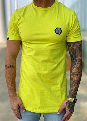 Camiseta Longline Plaquinha Neon - BUH