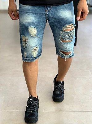 Bermuda Jeans Destroyed Light - City Denim
