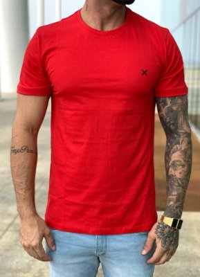 T-shirt Red Basic - Icon